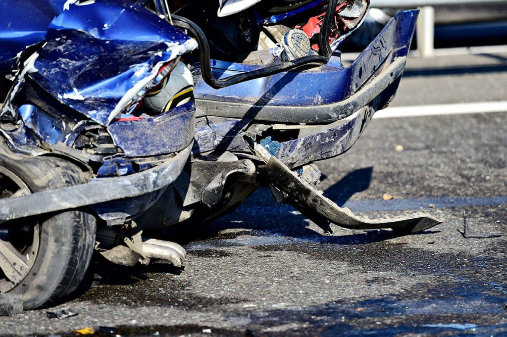 A car accident occurred on the I-95.